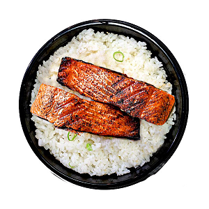 Foto Salmon Teriyaki rice bowl